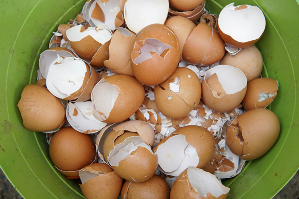 Remove a hard egg shell easily