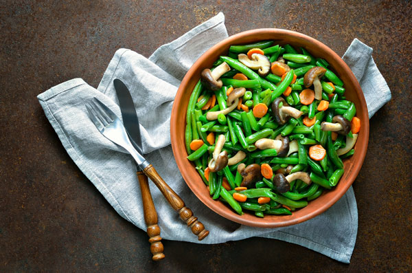 chicken green beans mushrooms recipe