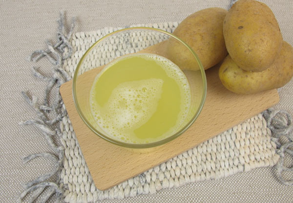 Potato Juice treatment for hair growth