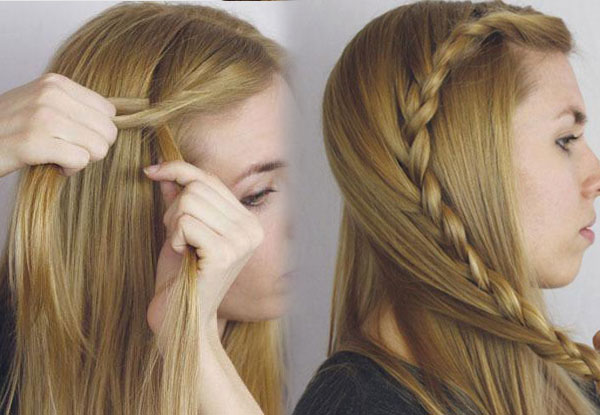 Lace braid cute girl hairstyles