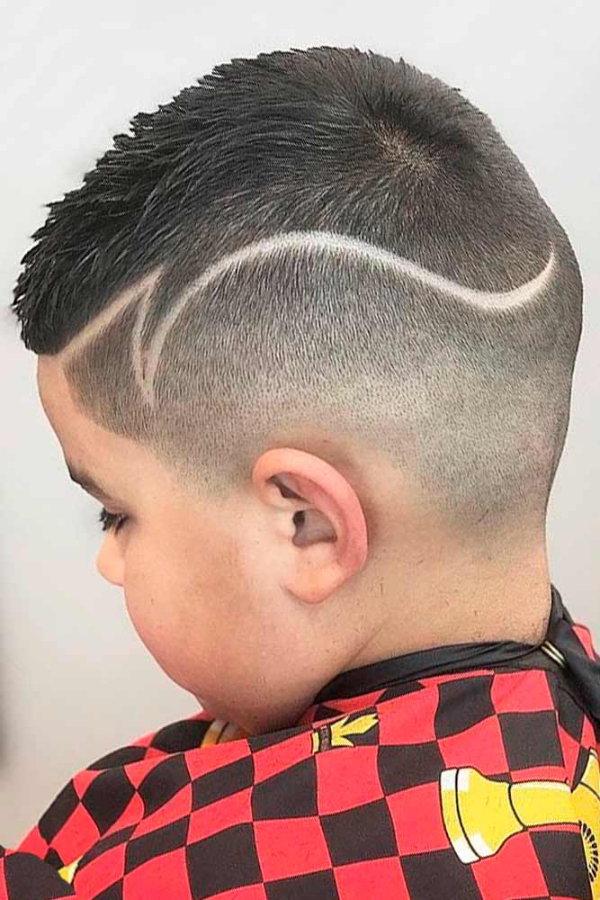 Buzz Cut With Shaved Line