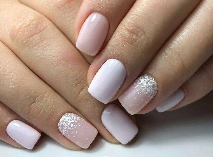 Light manicure for short nails