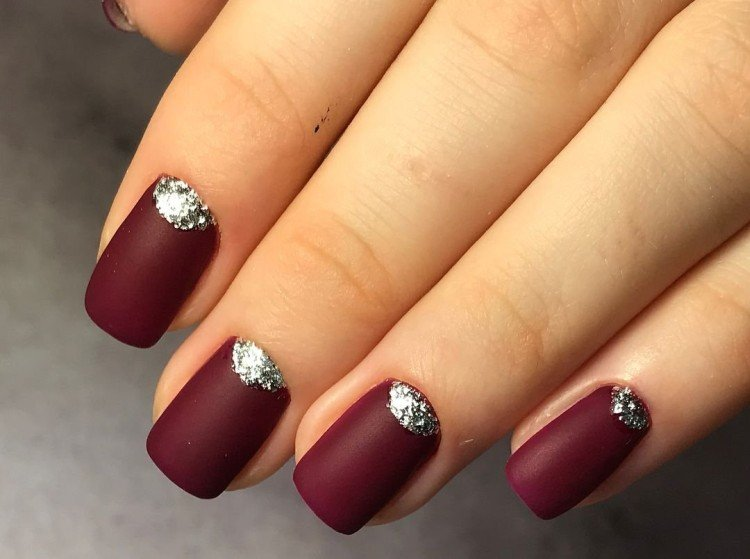 Burgundy manicure