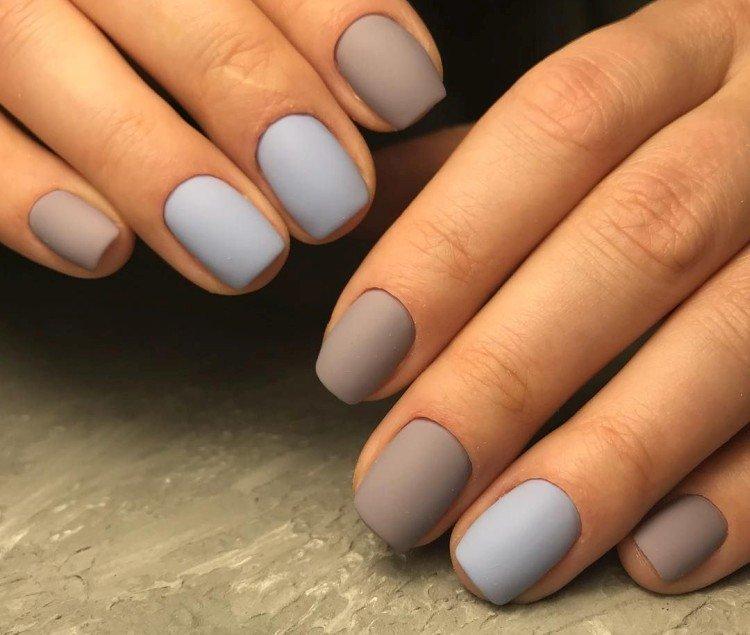 Matte manicure for short nails