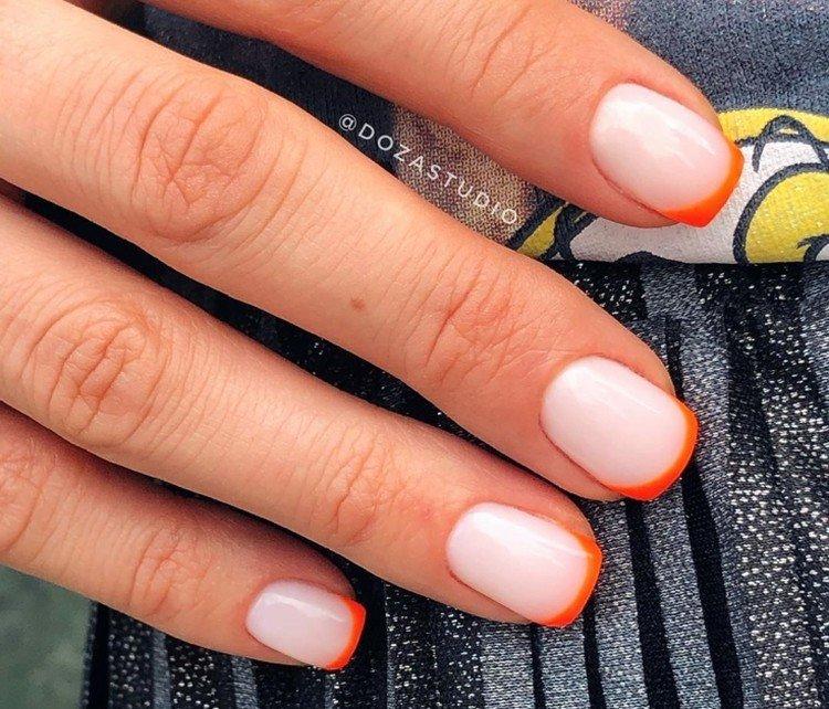 Autumn jacket for short nails