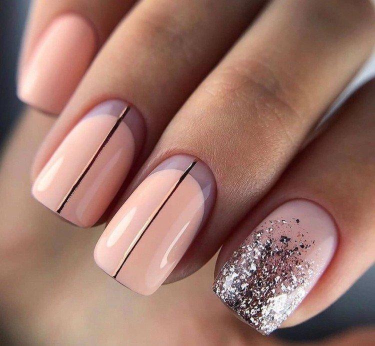 Classic nude manicure