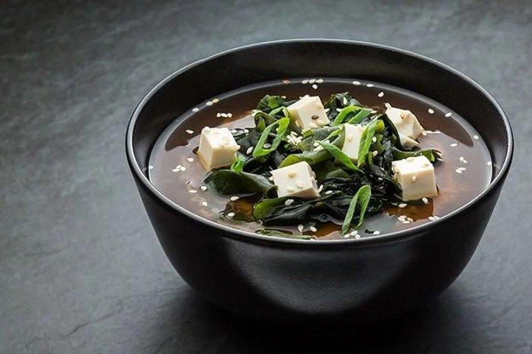Miso onion soup